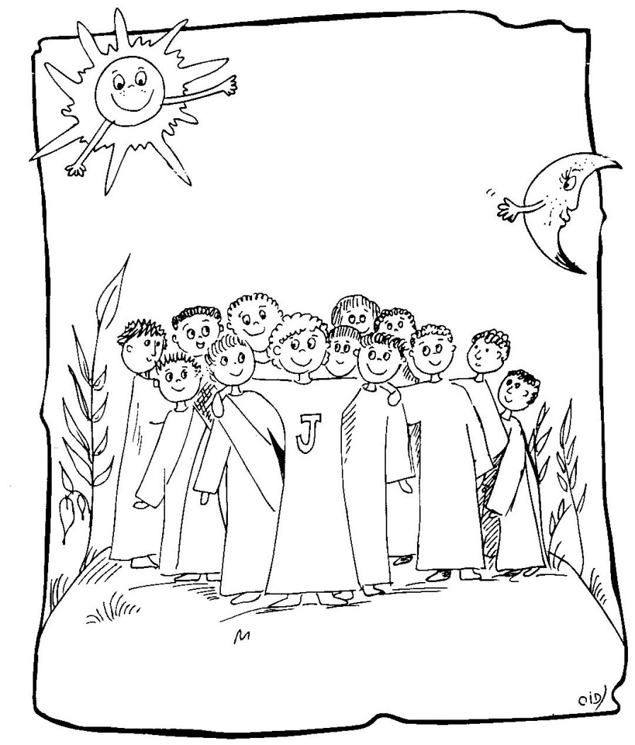 jesus and disciples coloring page - jesus calling disciples clipart clipart suggest