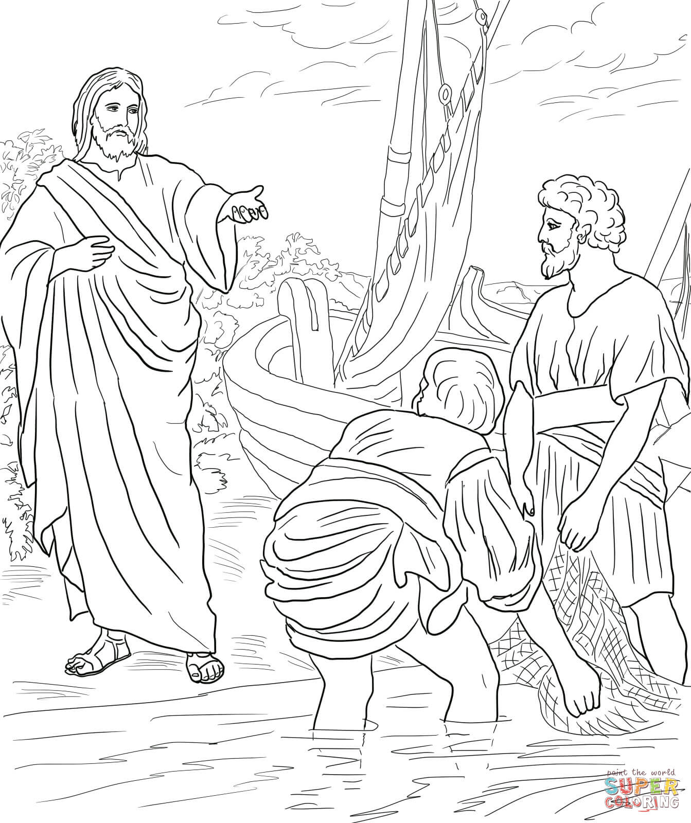 gangway to galilee coloring pages - photo#31