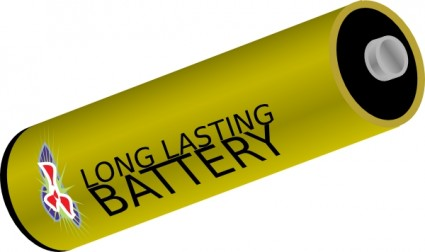 Long Lasting Battery Clip Art Free Vector In Open Office Drawing Svg