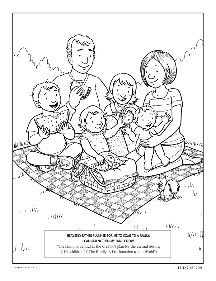 My Family  Family  Family Coloring Page  I Am Thankful For Family