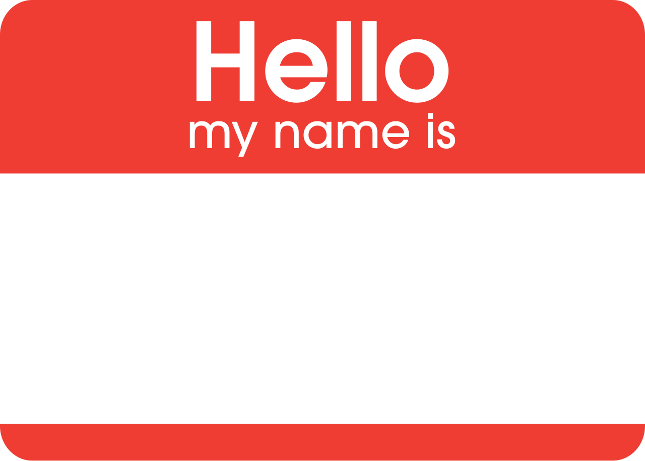 Name Badge: Name Badge Clipart