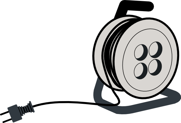Electric Wire Black And White : Electrical wire clipart suggest