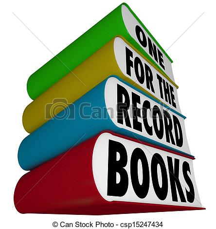 The Record Books To Illustrate A Great Record Breaking Score Or Result
