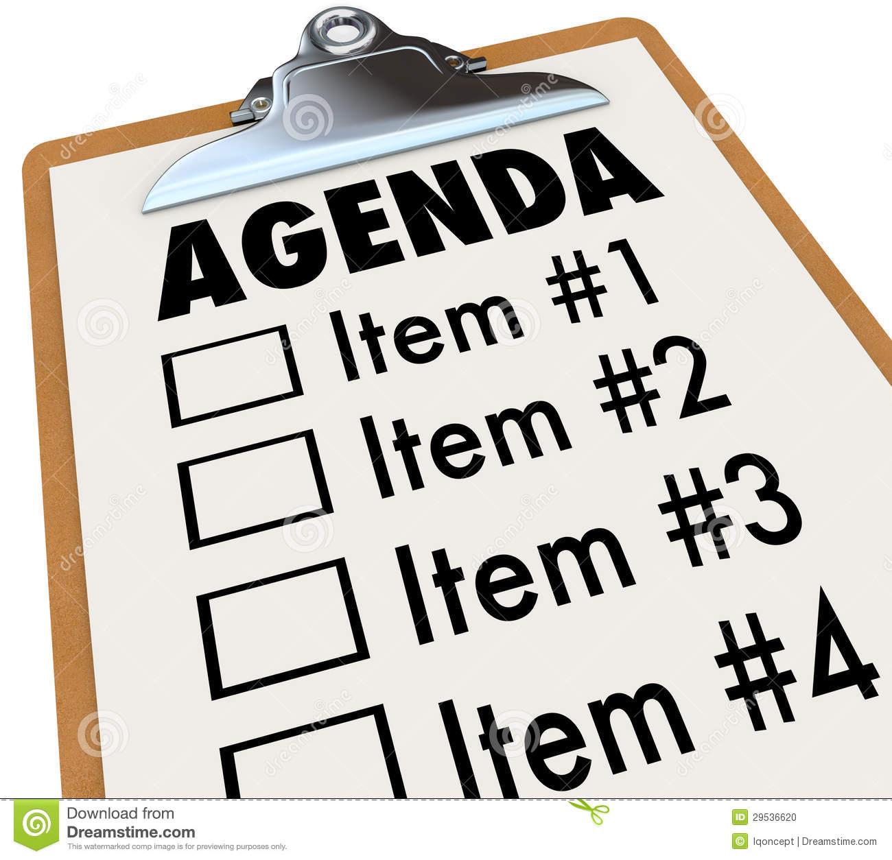 Meeting Agenda Clipart - Clipart Kid