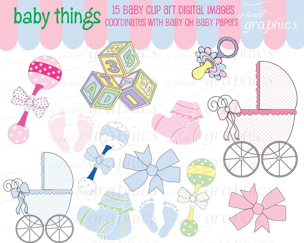 Baby Digital Clip Art Digital Baby Clipart Baby By Greatgraphics