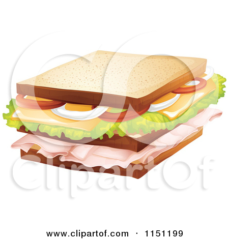 Cheese Sandwich Clipart Sandwich With Cheese And Meat