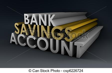 Drawing Of Savings Account   Bank Savings Account As A Concept In 3d