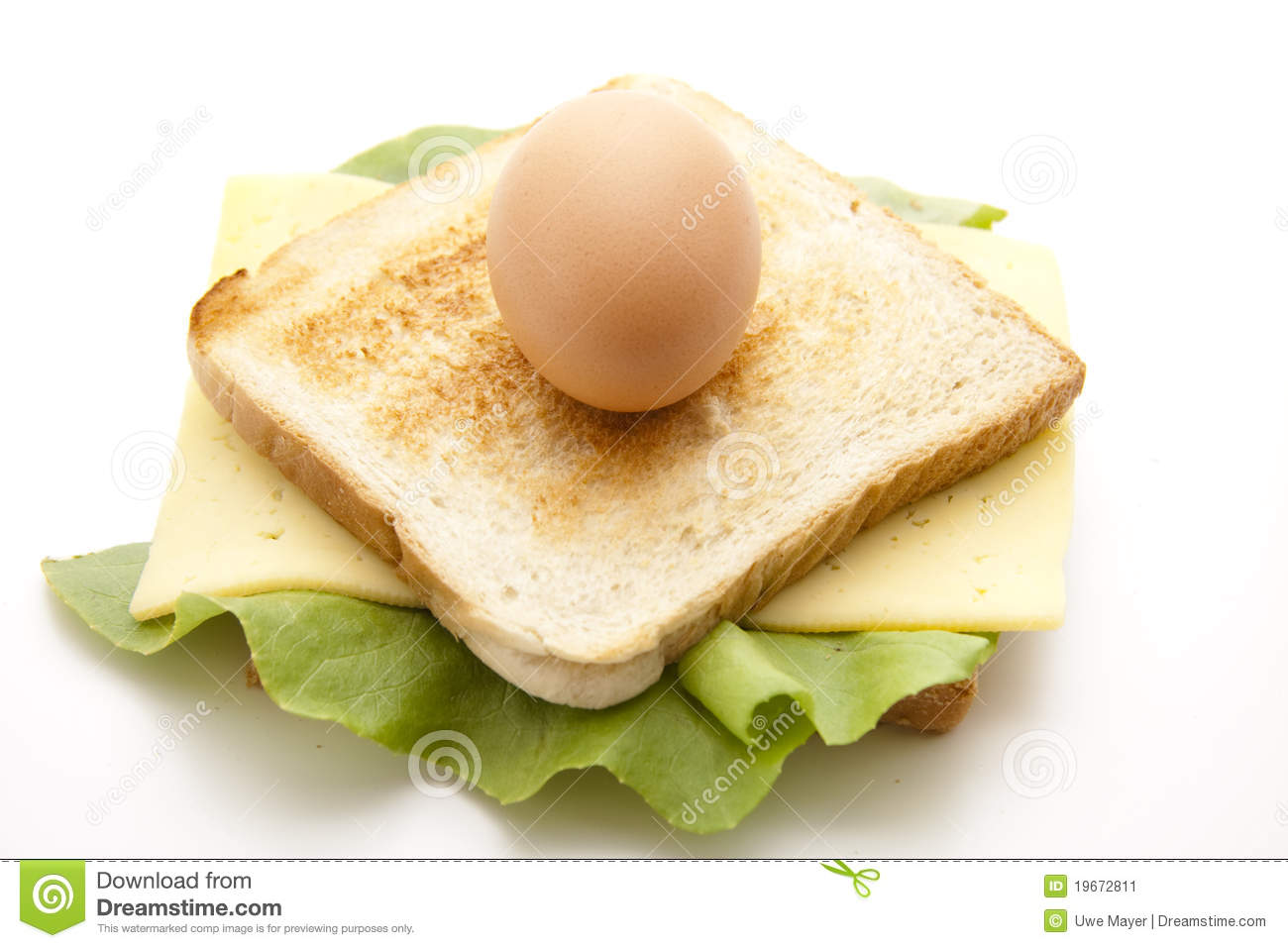 Egg On Sandwich With Cheese Stock Image   Image  19672811