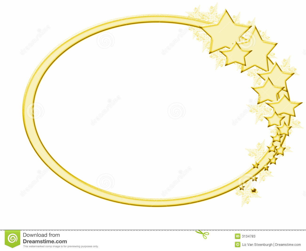 gold star border clipart wintery gold star frame