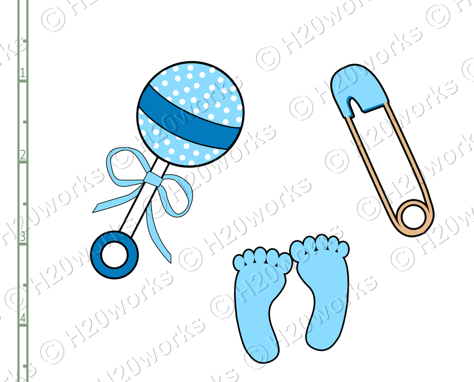 H20worksdesigns   Baby Items Clipart Set On 8 5x11 Sheet   Online
