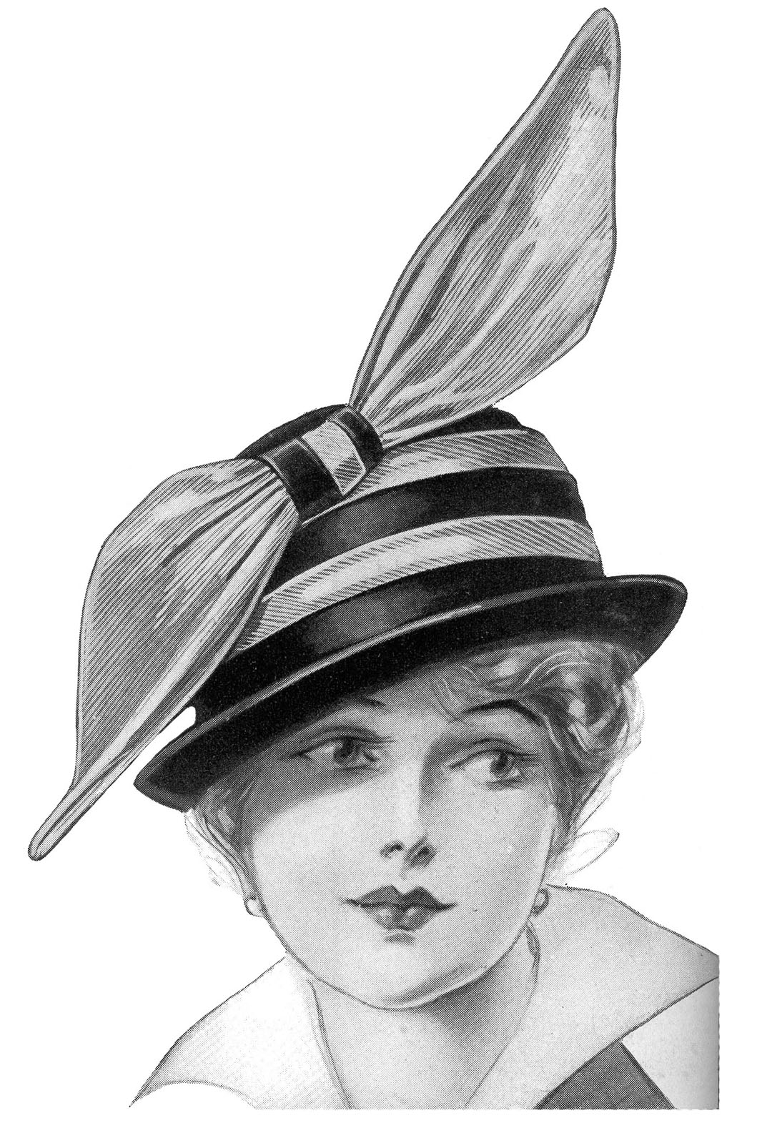 Ladies Hats From An Edwardian Fashion Catalog   The Two On The Top