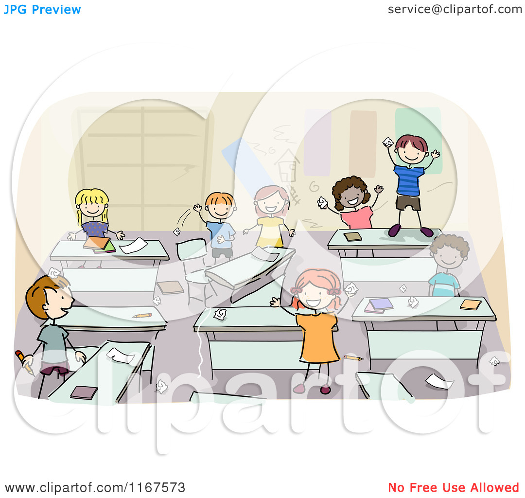 Messy Classroom   Royalty Free Vector Clipart By Bnp Design Studio