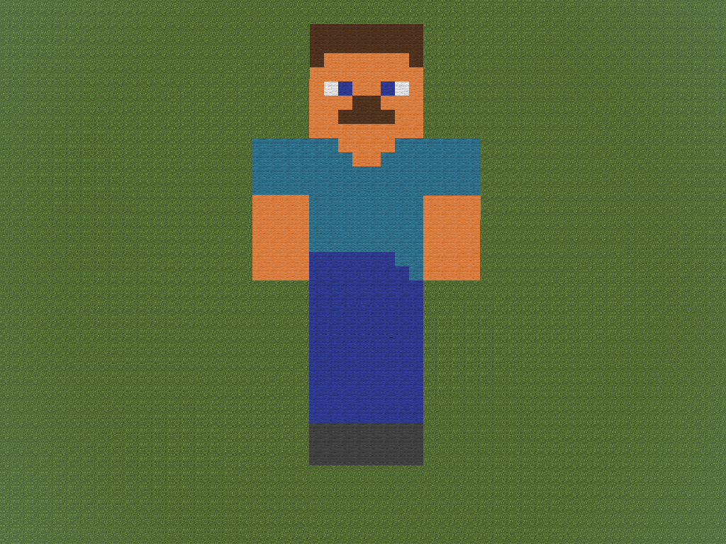 Steve Head Minecraft Pixel Art