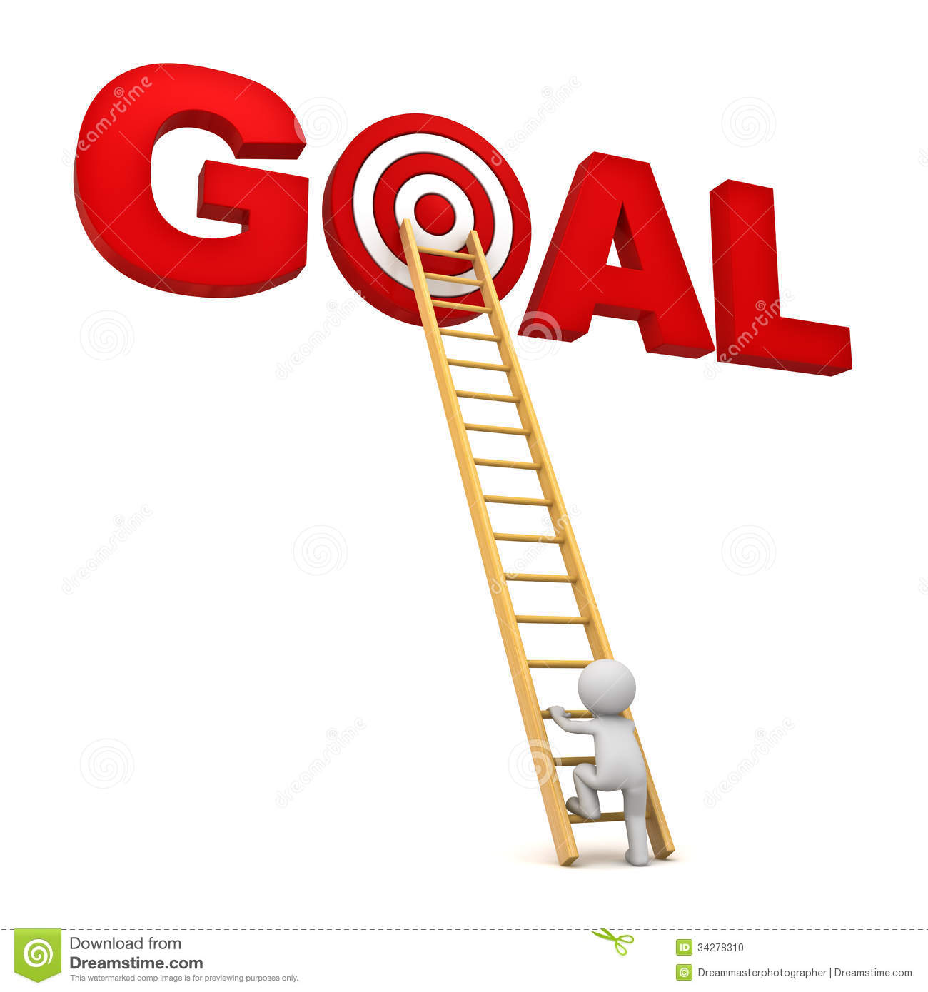 Reaching Goal Clipart Target In Word Goal Over