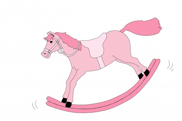 Rocking Horse Pink Clipart By Karen Arnold