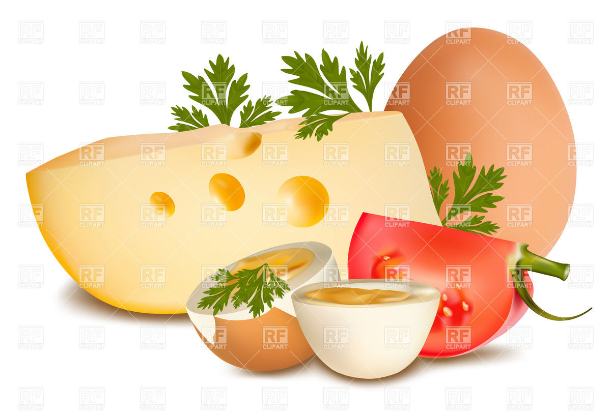 Slices With Half Of An Egg Download Royalty Free Vector Eps Clipart