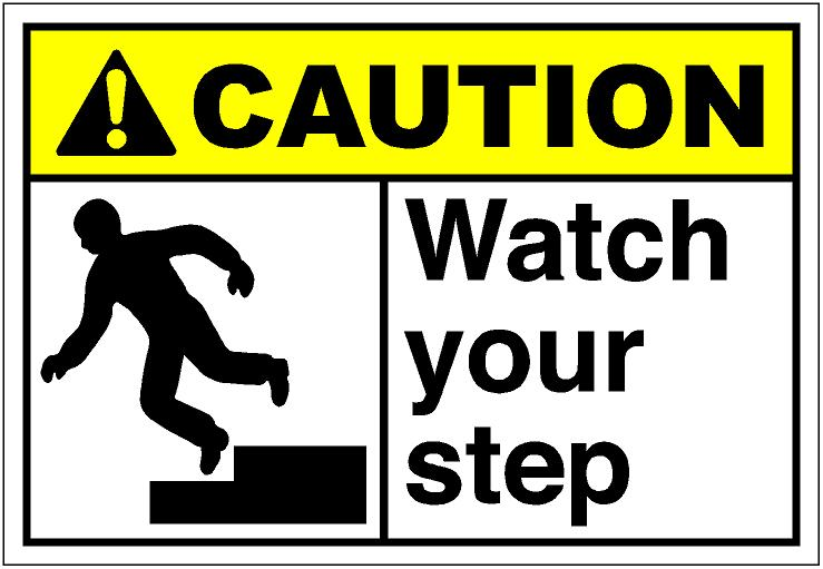 image about Printable Watch Your Step Sign identified as Warning Check Your Phase Signal Impressive Picture Gallery