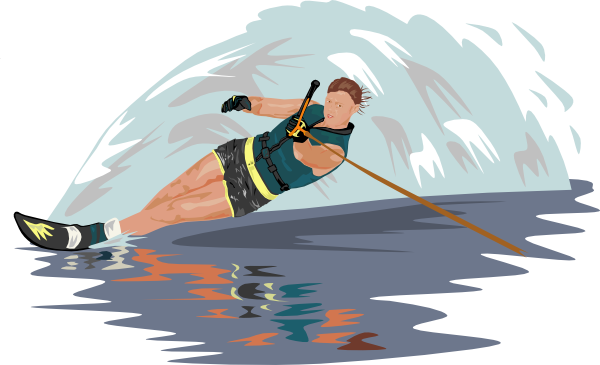 Water Skiing  Water Skiing Clipart