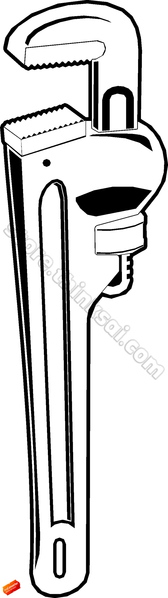 Wrench Clip Art Tools Wrench 13 Pipe Wrench