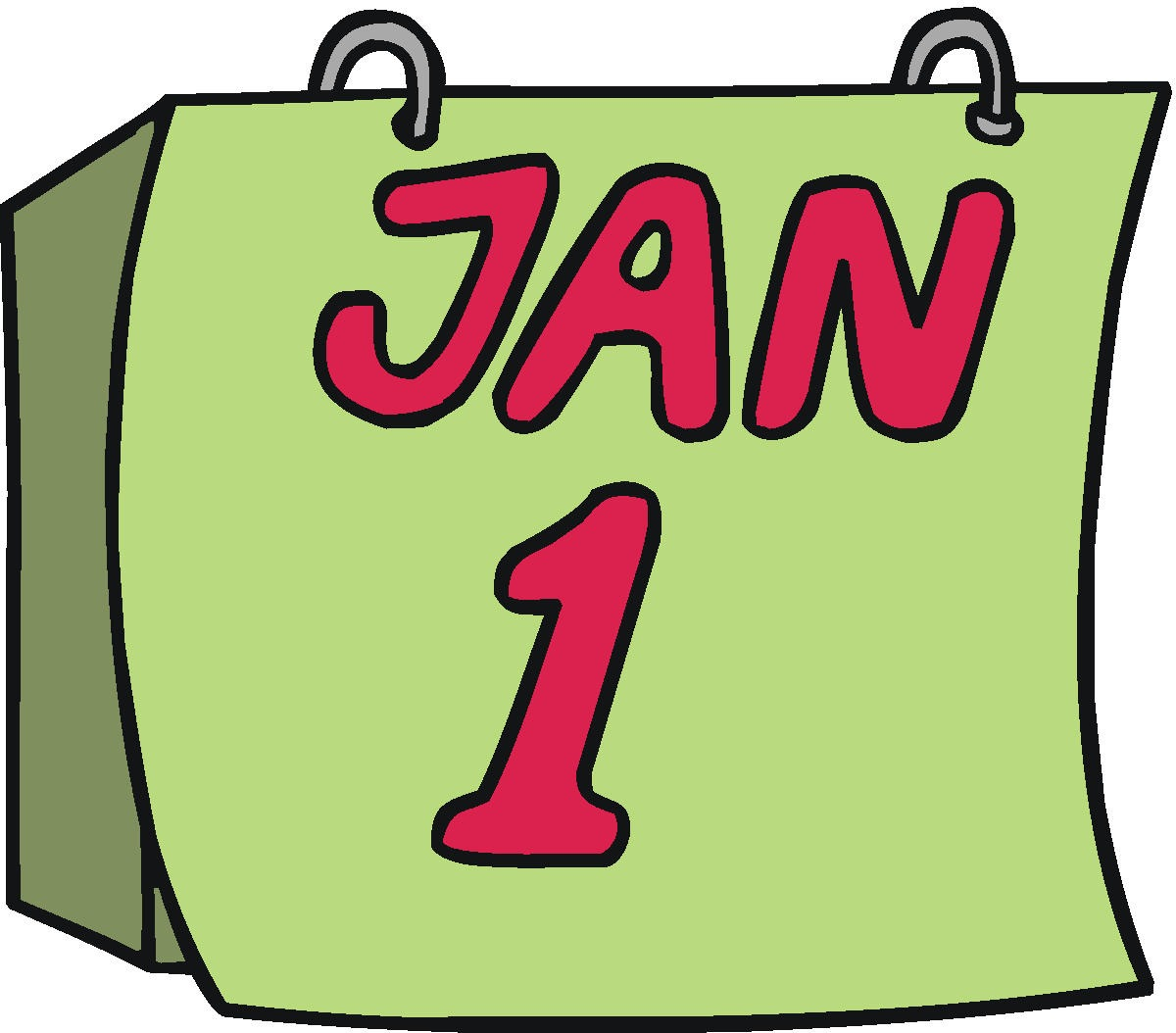 Clip Art Calendar January : January cartoon clipart suggest
