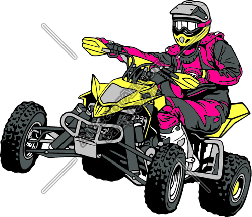 Atv001 Clipart And Vectorart  Vehicles   Off Road Atv Vectorart And