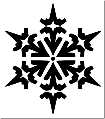 Black Snowflake Clipart Snowflake Clipart Black And White Png