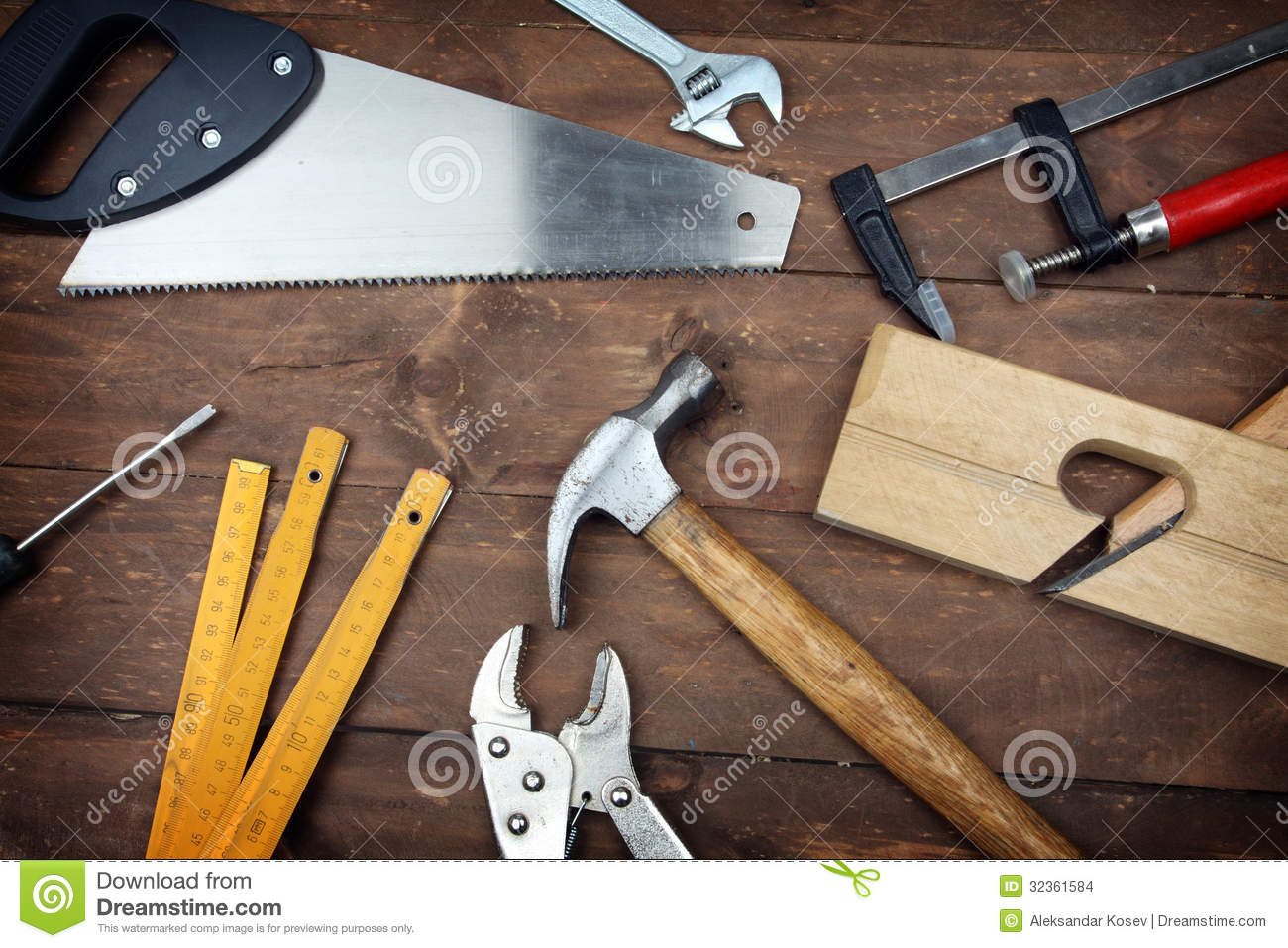 Carpenter S Tools Stock Images   Image  32361584