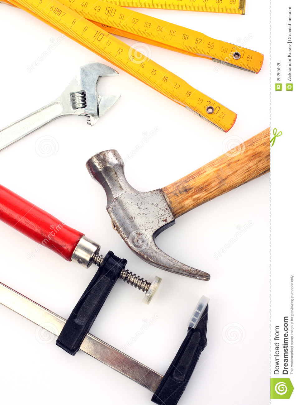 Carpenter S Tools Stock Photo   Image  20265920