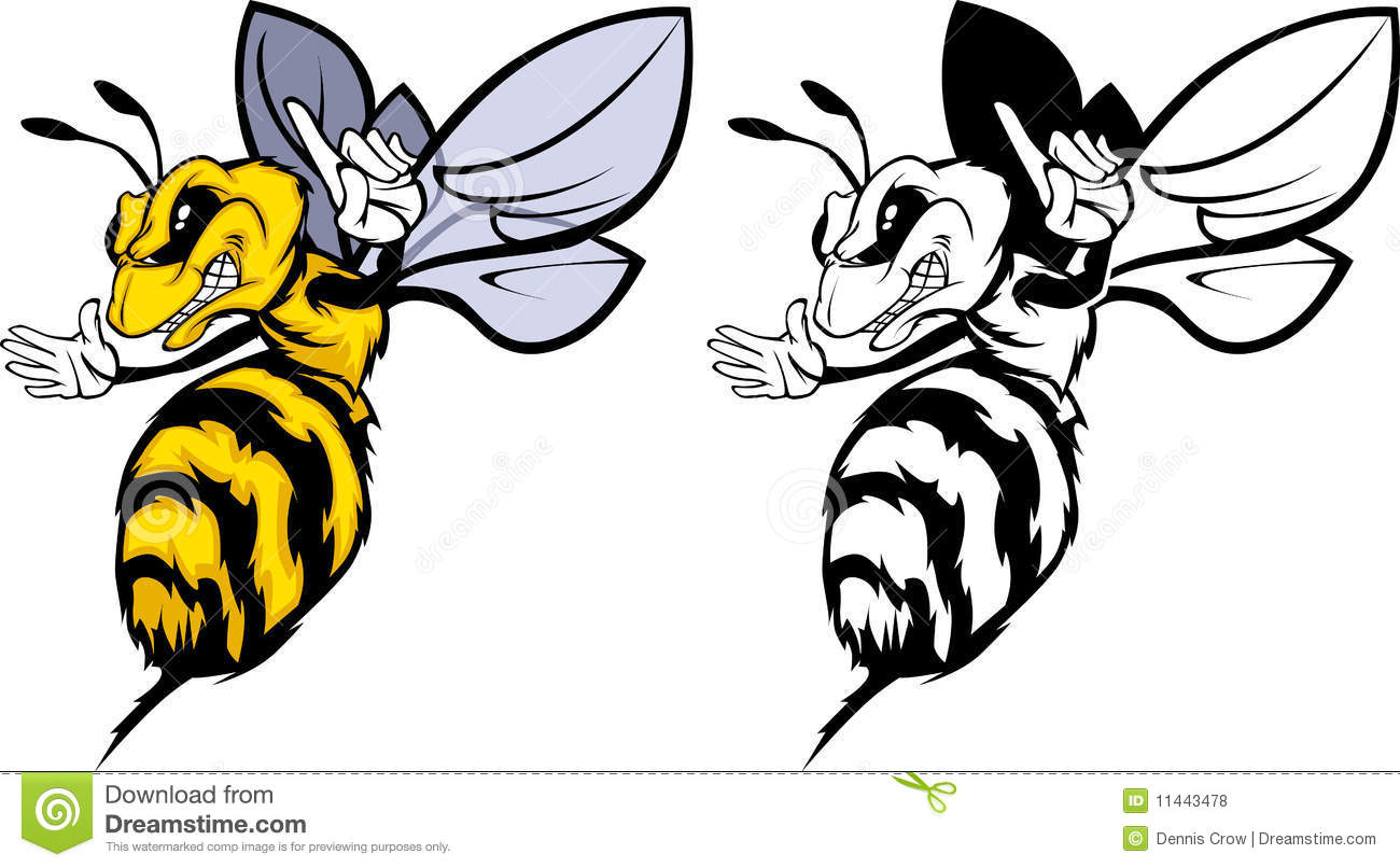 Cartoon Hornet Mascot Bee Mascot Logo Royalty Free #mqzyAv ...