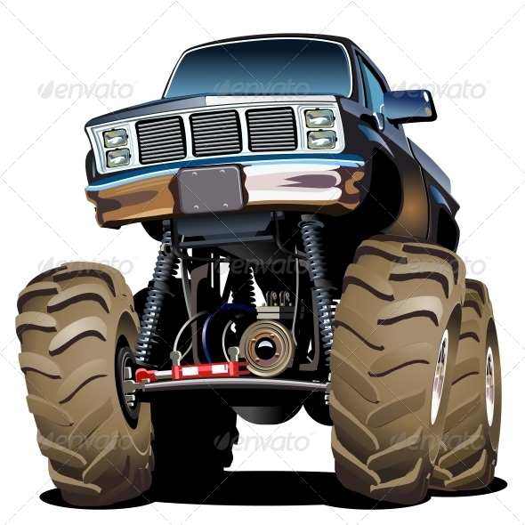 Cartoon Monster Truck   Man Made Objects Objects