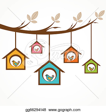 Collection Of Funny Birds In Feeder  Clipart Illustrations Gg66294148