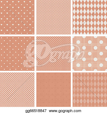 Drawings   Set Of Faded Blue Retro Polka Dot Seamless Patterns  Stock