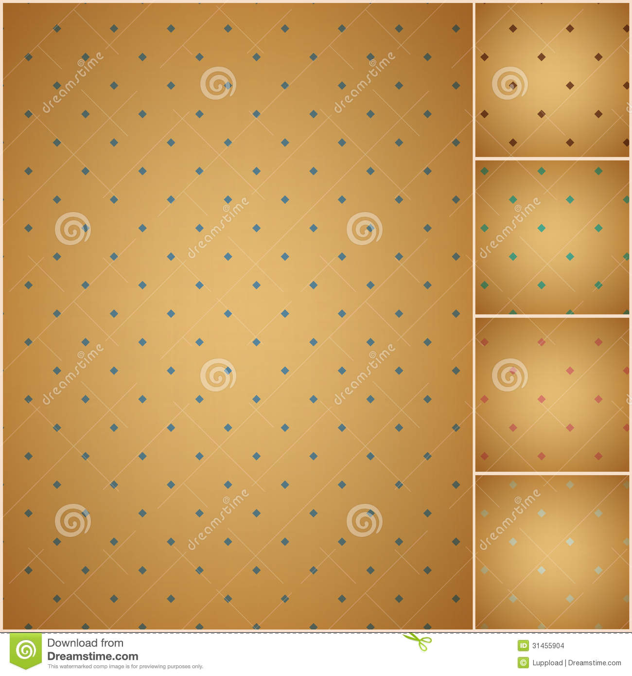 Faded Colorful Polka Dot Seamless Textured Pattern Stock Images