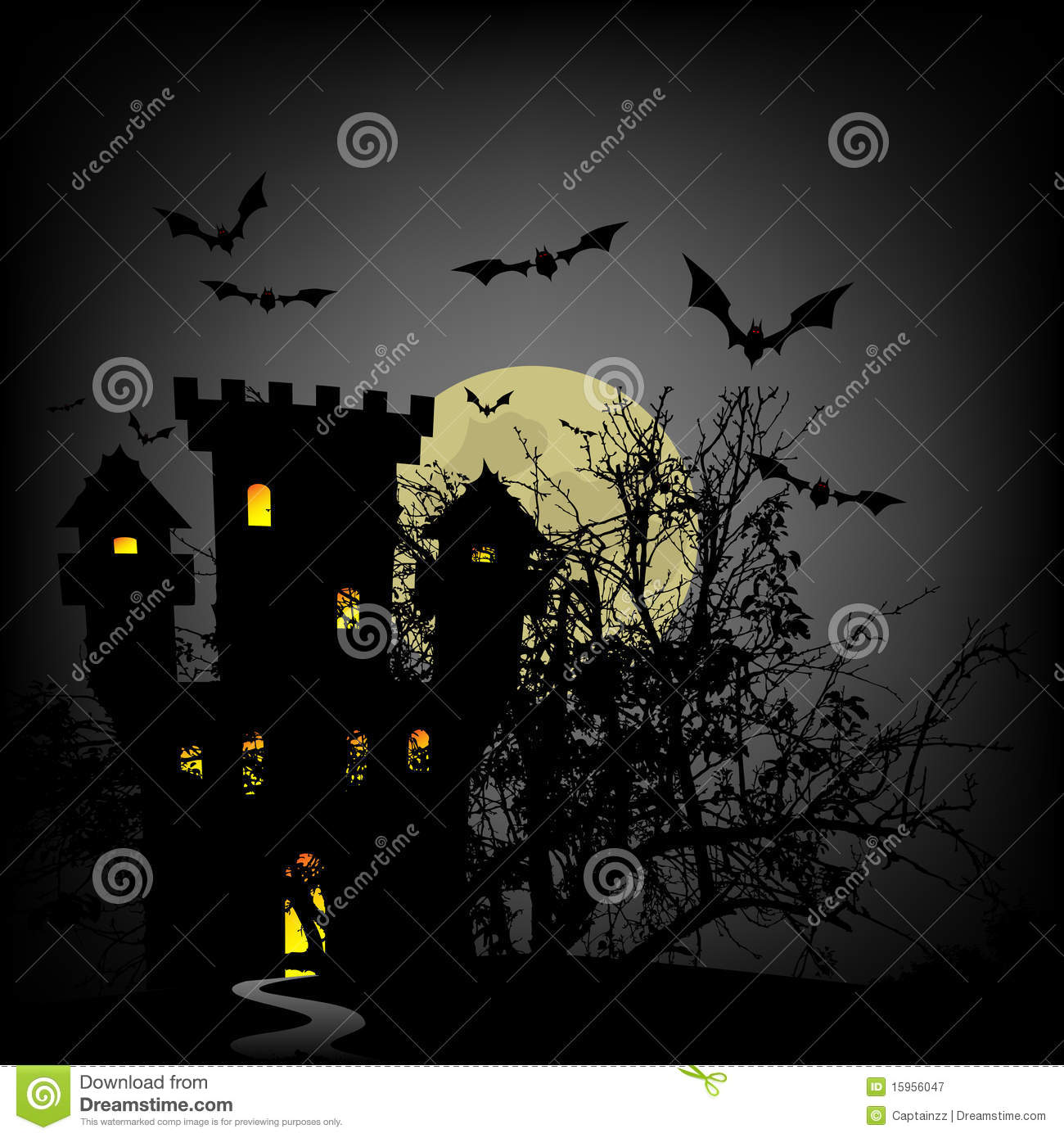 Haunted Castle Royalty Free Stock Photography   Image  15956047