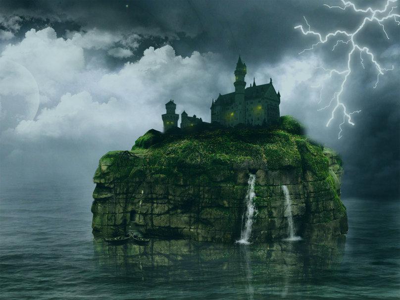 Haunted castle clipart