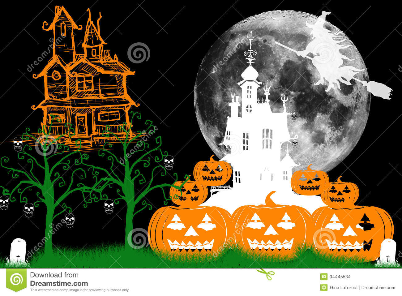 Haunted Castles Stock Images   Image  34445534