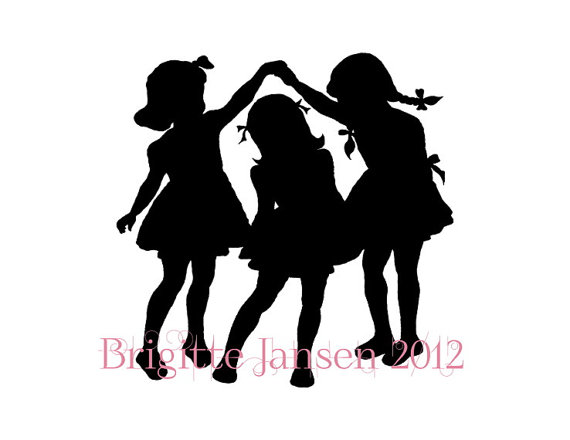 Items Similar To Little Girls Silhouette Download Digital Image