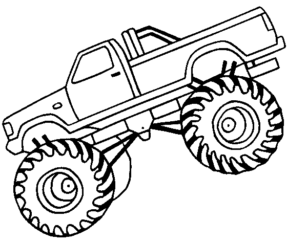 Monster Truck Off Road Coloring Page     Luhur Hati