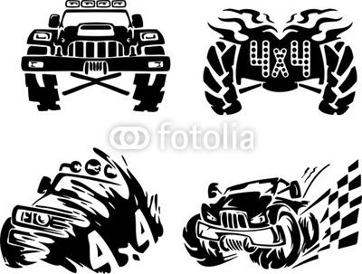 Off Road Symbol  Ready For Vinyl Cutting   Stock Photo And Royalty