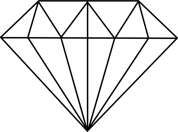 Line Drawing Diamond : Diamond drawing clipart suggest