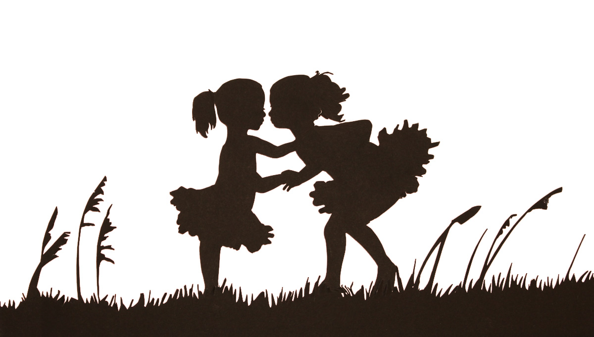 Sibling Silhouettes   Heart Paper Scissors