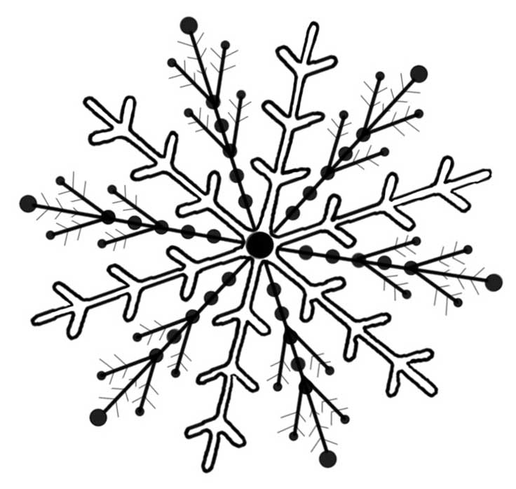 Clip Art Snowflake Clipart Black And White black snowflake clipart kid and white panda free clipart