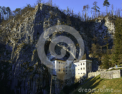 Stock Photo  Predjama Castle Slovenia