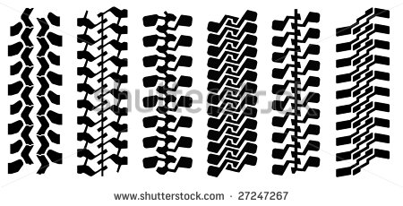 Track Of Mud Terrain Tyres  Can Make Any Length  Stock Vector
