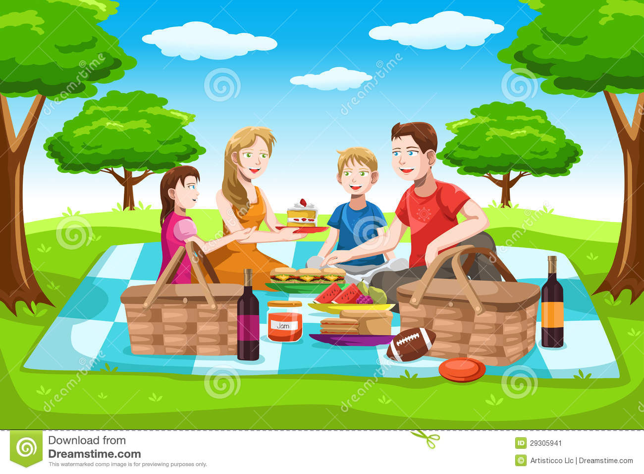 Picnic Cartoon Mom Clipart - Clipart Kid