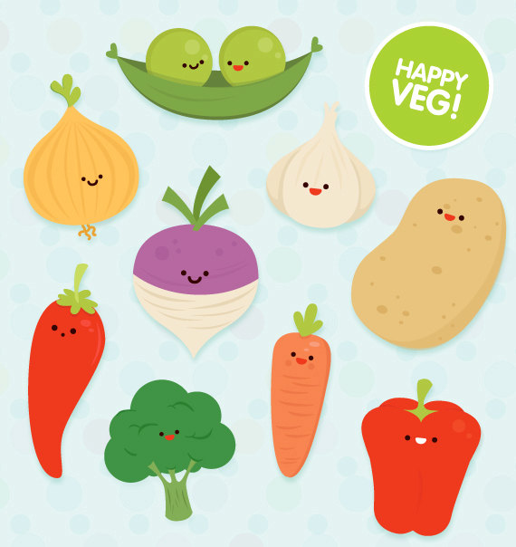 Veg Clipart Commercial Use Cute Vector Educational By Colorplanet