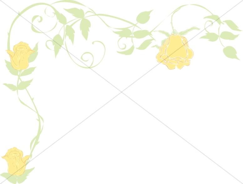 Yellow Polka Dot Border   Spring Borders