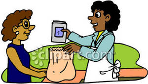 African American Cashier Bagging Groceries Clipart Picture