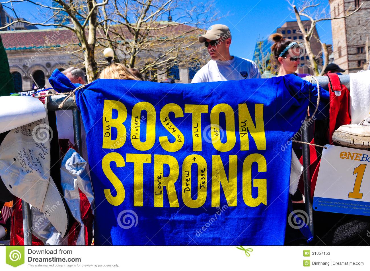 Boston Marathon Bombing Memorial Usa Editorial Stock Photo   Image