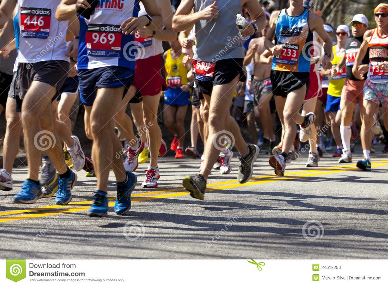 Boston Marathon Editorial Photo   Image  24519256